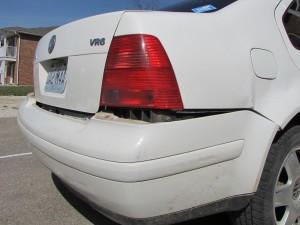 Damage to the Jetta